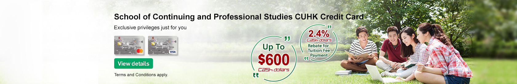 School of  Continuing and Professional Studies CUHK Credit Card