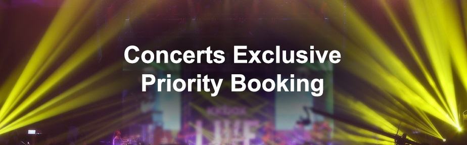 Concerts Exclusive Priority Booking